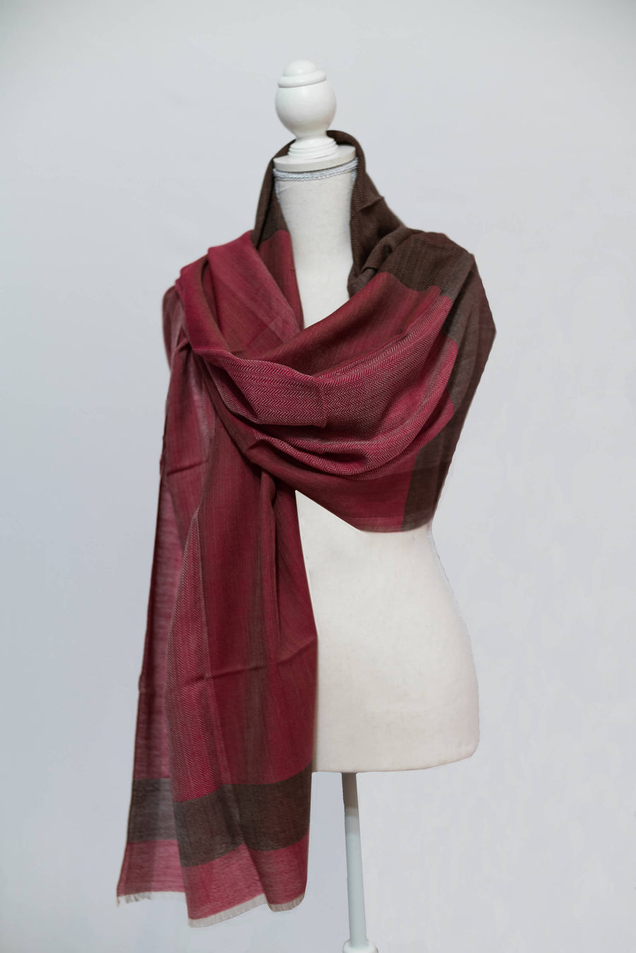 Magenta and Black Cashmere Wrap