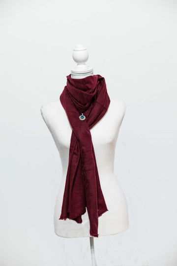 Cashmere Red Wine Shawl