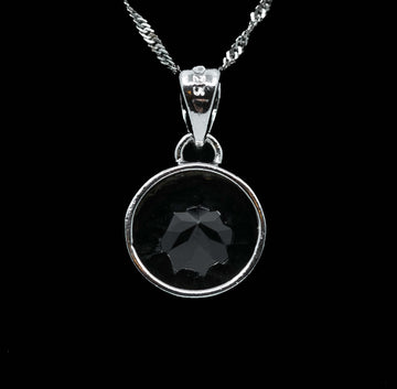 Genuine Smoky Oval Pendant Drop