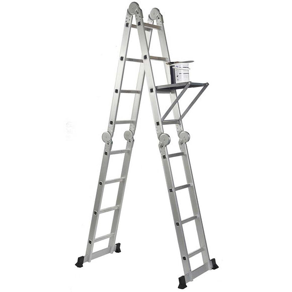 14-in-1 Ladder with 2 Scaffold Working Plates & 1 Tool Tray