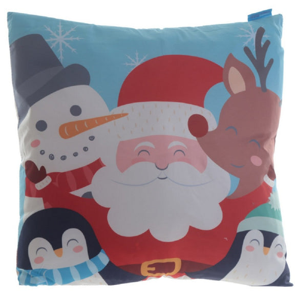 Fun Design Cushion with Insert - Christmas Characters