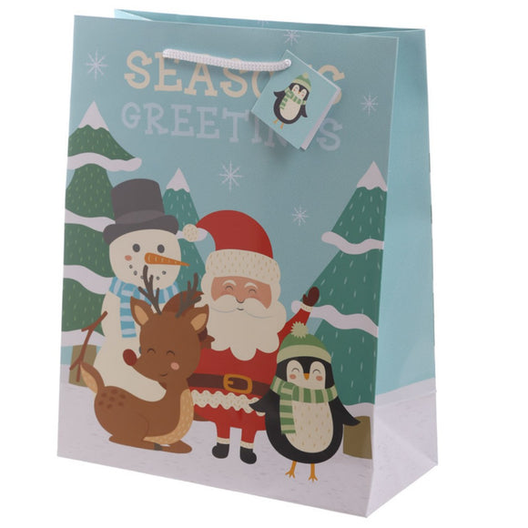 Christmas Friends Design Large Glossy Gift Bag