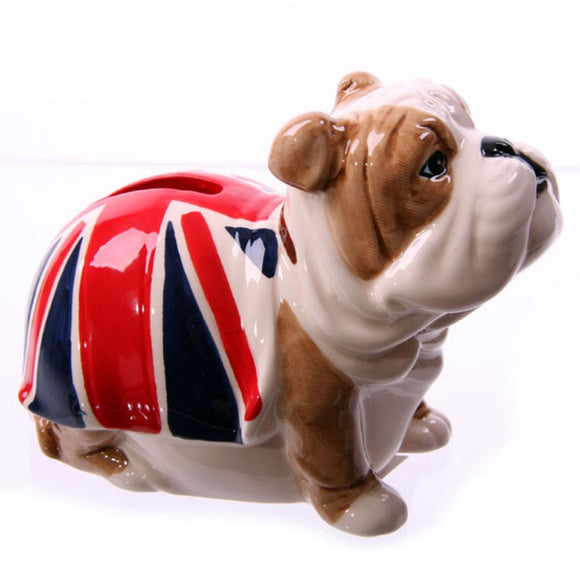 Fun Novelty Ceramic British Bulldog Money Box