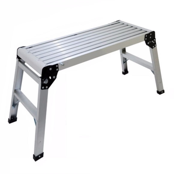 Double Bench Work Platform Folding Ladder