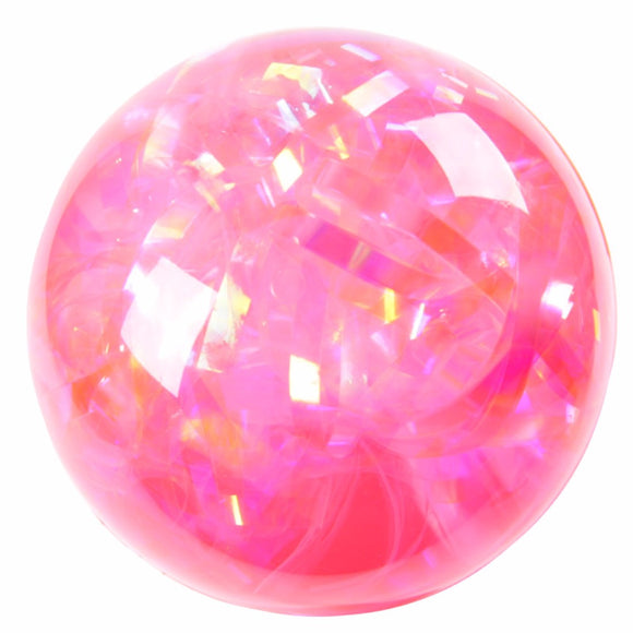 Fun Kids Flashing Rubber Bouncy Ball - Multi Glitter