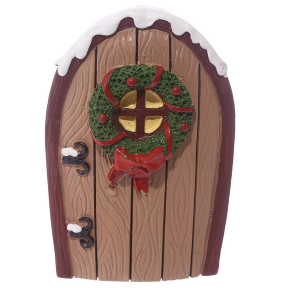 Festive Collectable Christmas Elf Door Set with Wishes Jar