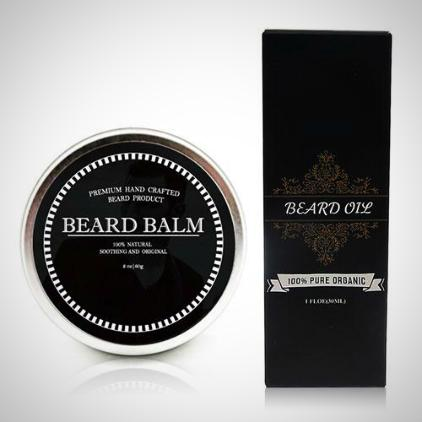 100% Organic Beard Balm & Beard Oil Set