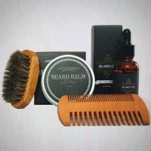 100% Organic Beard Care Grooming Kit & Beard Gift Set
