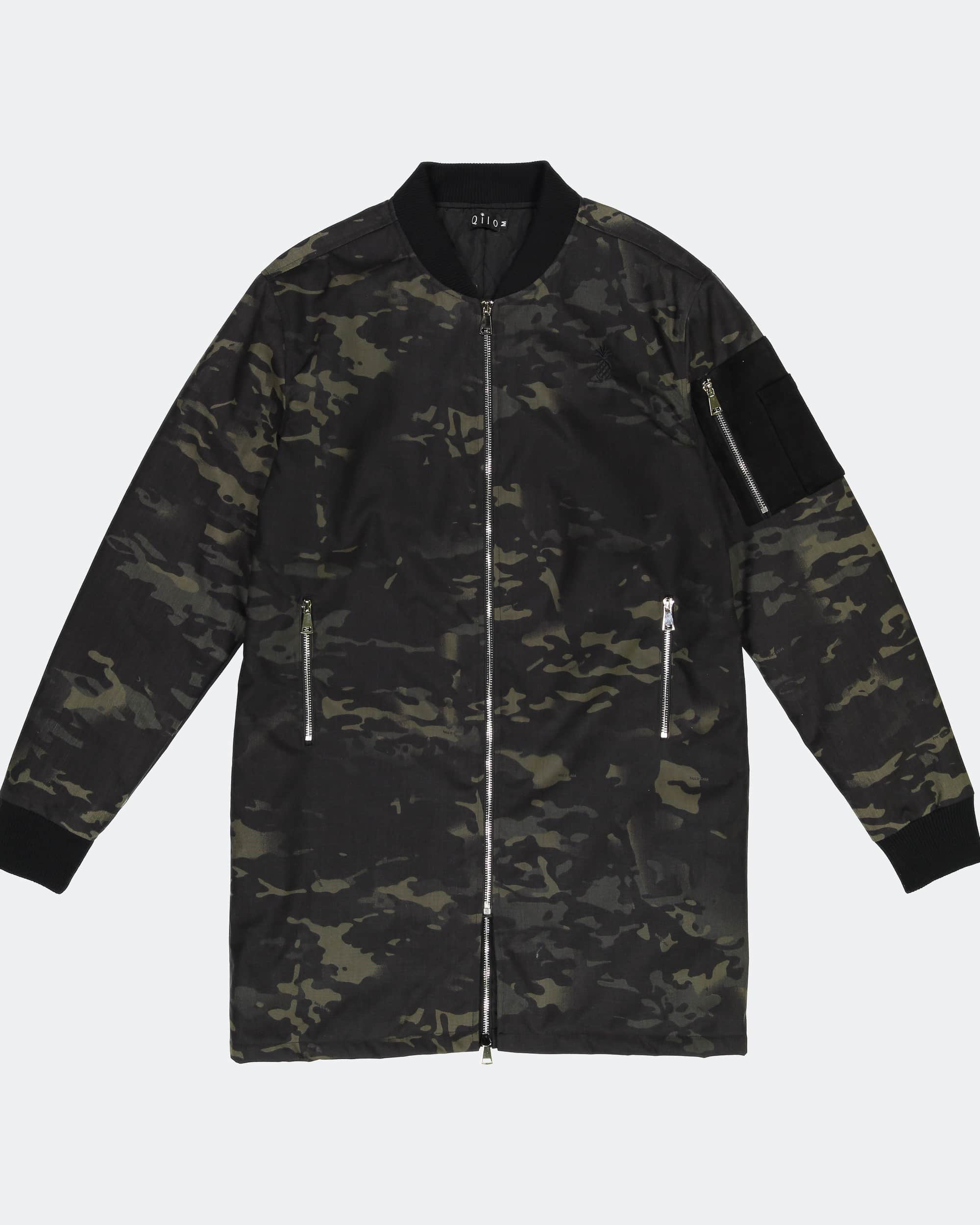 MULTICAM® Long Bomber Jacket in Black