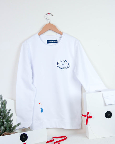 The Cloud Sweater - White