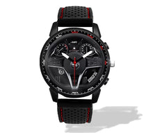 alfa romeo giulia qv quadrifoglio Steering Wheel Silicone band watch red stitching wristwatch