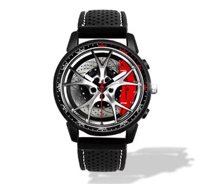 Giulia QV Wheel Red Calipers Silicone band watch Silver V2