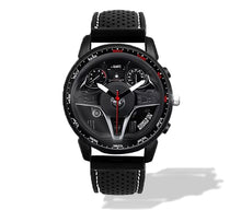 alfa romeo giulia qv quadrifoglio Steering Wheel Silicone band watch white stitching wristwatch