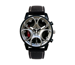 Alfa romeo 8C red calipers Wheel Silicone band watch stelvio quadrifoglio wristwatch orologio