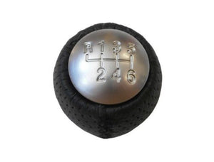 159/Brera Black Leather gear stick with Cap