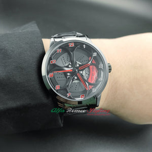 alfa romeo giulia stelvio qv 3D wheel leather watch red calipers