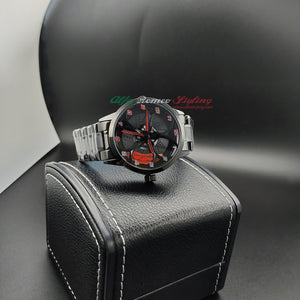 Alfa romeo 3d wheel watch red calipers giulia stelvio qv quadrifoglio wristwatch orologio