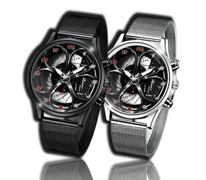 Alfa romeo watch Giulia QV Carbon Wheel Calipers Kingdom burnished steel stelvio quadrifoglio wristwatch orologio