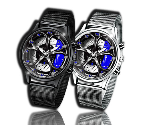 Alfa romeo watch Giulia QV blue Wheel Calipers Kingdom burnished steel stelvio quadrifoglio wristwatch orologio