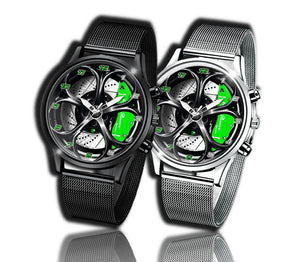 Alfa romeo watch Giulia QV green Wheel Calipers Kingdom burnished steel stelvio quadrifoglio wristwatch orologio