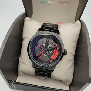 alfa romeo giulia stelvio qv 3D wheel watch red calipers quadrifoglio verde