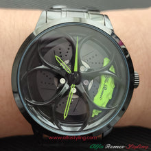 alfa romeo qv 3D wheel watch wristwatch orologio green calipers stelvio giulia quadrifoglio