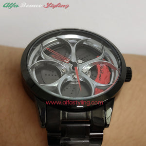 alfa romeo qv 3D wheel watch wristwatch orologio red calipers brembo