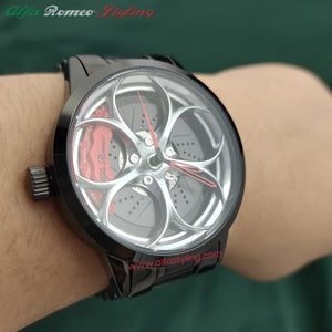 alfa romeo quadrifoglio verde qv giulia stelvio giulietta mito 4x 8x spider f1 racing wheel watch red calipers