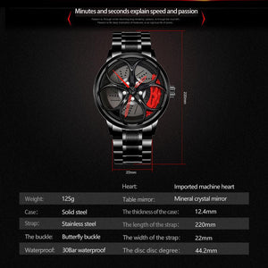 Alfa Romeo 3D wheel watch red calipers