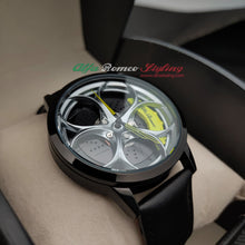 alfa romeo giulia stelvio qv 3D wheel leather watch yellow calipers