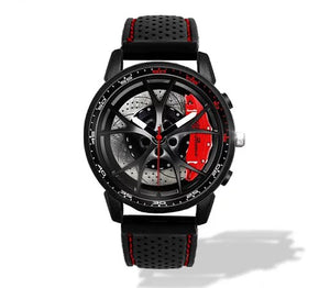 Giulia QV Wheel Red Calipers Silicone band watch Gunmetal V2