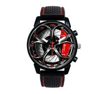 alfa romeo giulia qv quadrifoglio wheel watch wristwatch orologio red stitching