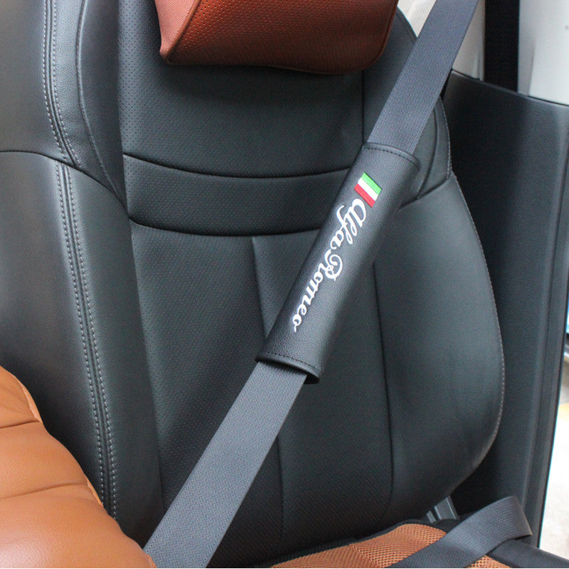 X Alfa Romeo Seat Belt Leather Cover Alfa Romeo Passion - Alfa romeo seat covers