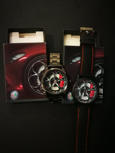 Alfa romeo Giulia QV Wheel Red Calipers Silicone band silicone band stelvio quadrifoglio watch wristwatch orologio giulia callipers brembo elegant casual