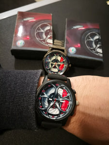 alfa romeo giulia stelvio qv watch 3d background meeting perfect gift