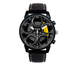 4C gunmetal Wheel Yellow Calipers Silicone band watch stelvio quadrifoglio wristwatch orologio