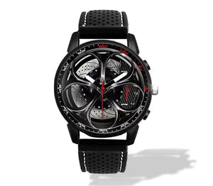 Giulia QV Wheel Carbon Calipers Silicone band watch Gunmetal V2