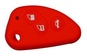 alfa romeo 147 156 166 GT Silicone Key Cover 3 Buttons red