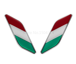 Alfa Romeo Aluminium Italian Flag sticker badge emblem Self adhesive high quality exteior accessories