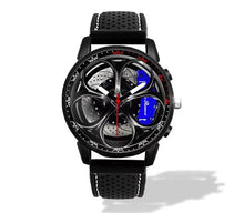 Giulia QV Wheel Blue Calipers Silicone band watch Gunmetal V2