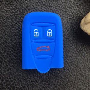 alfa romeo 159 Brera Spider dark blue Silicone Key Cover 3 Buttons