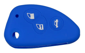 alfa romeo 147 156 166 GT Silicone Key Cover 3 Buttons blue