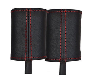 Give your Alfa Romeo 156 interior premium look with high red stitched quality leather seatbelt stalk covers.  Product specification:  Material: real leather   Easy instalation    Package includes:  Red stitched real leather seatbelt cover