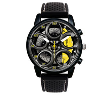 4C Wheel Yellow Calipers Silicone band watch stelvio quadrifoglio wristwatch orologio