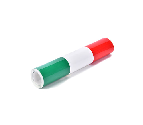 Perfect touch for your Alfa Romeo. Italian flag stripe sticker with adhesive that provides easy instalation. Fits all cars.    Product specification:  Material: ABS  Waterproof, fade-resistant, self-adhesive Length: 100cm   Width: 15cm  Package includes: 1x Italian Flag stripe sticker 1m x 15cm