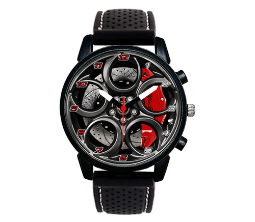 Alfa romeo watch 4C Wheel Green Calipers silicone band stelvio quadrifoglio wristwatch orologio
