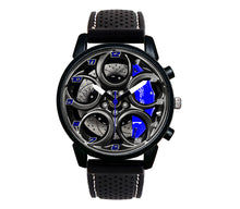Alfa romeo watch 4C Wheel Blue Calipers silicone band stelvio quadrifoglio wristwatch orologio