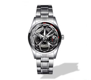Giulia QV Silver Wheel Black Caliper Diamond Watch