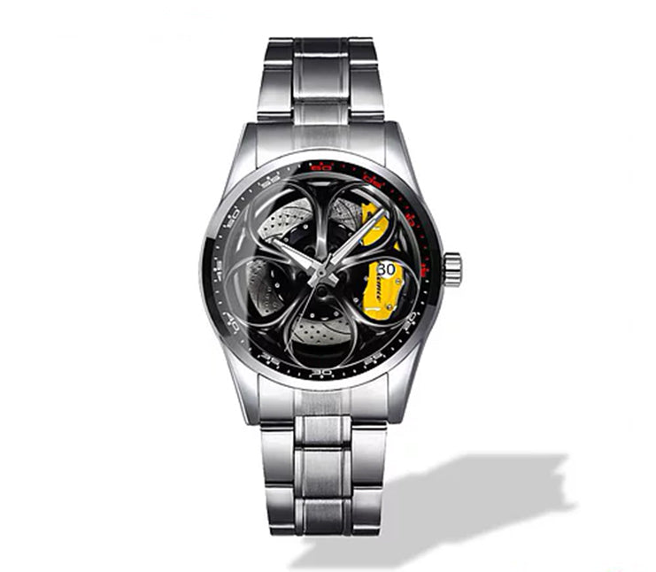 Giulia QV Wheel Yellow Caliper Diamond Watch