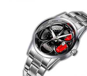 Giulia QV Wheel Red Caliper Diamond Watch